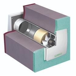Приточно-вытяжная установка с рекуперацией тепла Noizzless RX 100 с RLS пультом